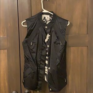 St.John like new black satin vest